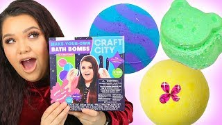 Karina Garcia's DIY BATH BOMB KIT! Sleepover Collection + Make Your Own Lip Kits!