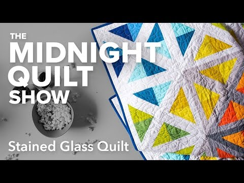 Stained Glass Spectrum Quilt | Midnight Quilt Show with Angela Walters