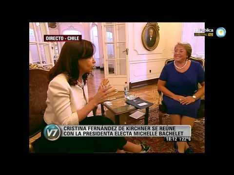 Visión 7: Cristina se reúne con Michelle Bachelet