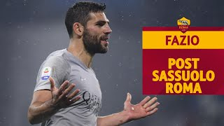 SASSUOLO-ROMA 0-0   Il commento di Federico Fazio