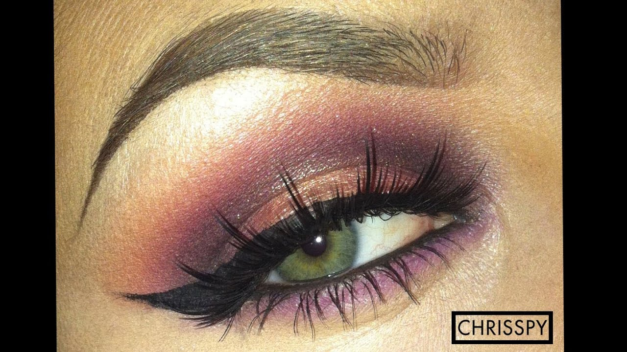 purple gold sultry eyeshadow tutorial youtube