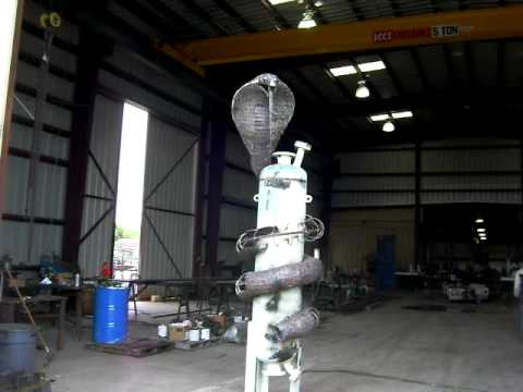 Metal art sculpture under construction