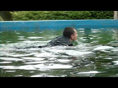 Swimming with dolphins at pattya dolphin world Thailand (2014)