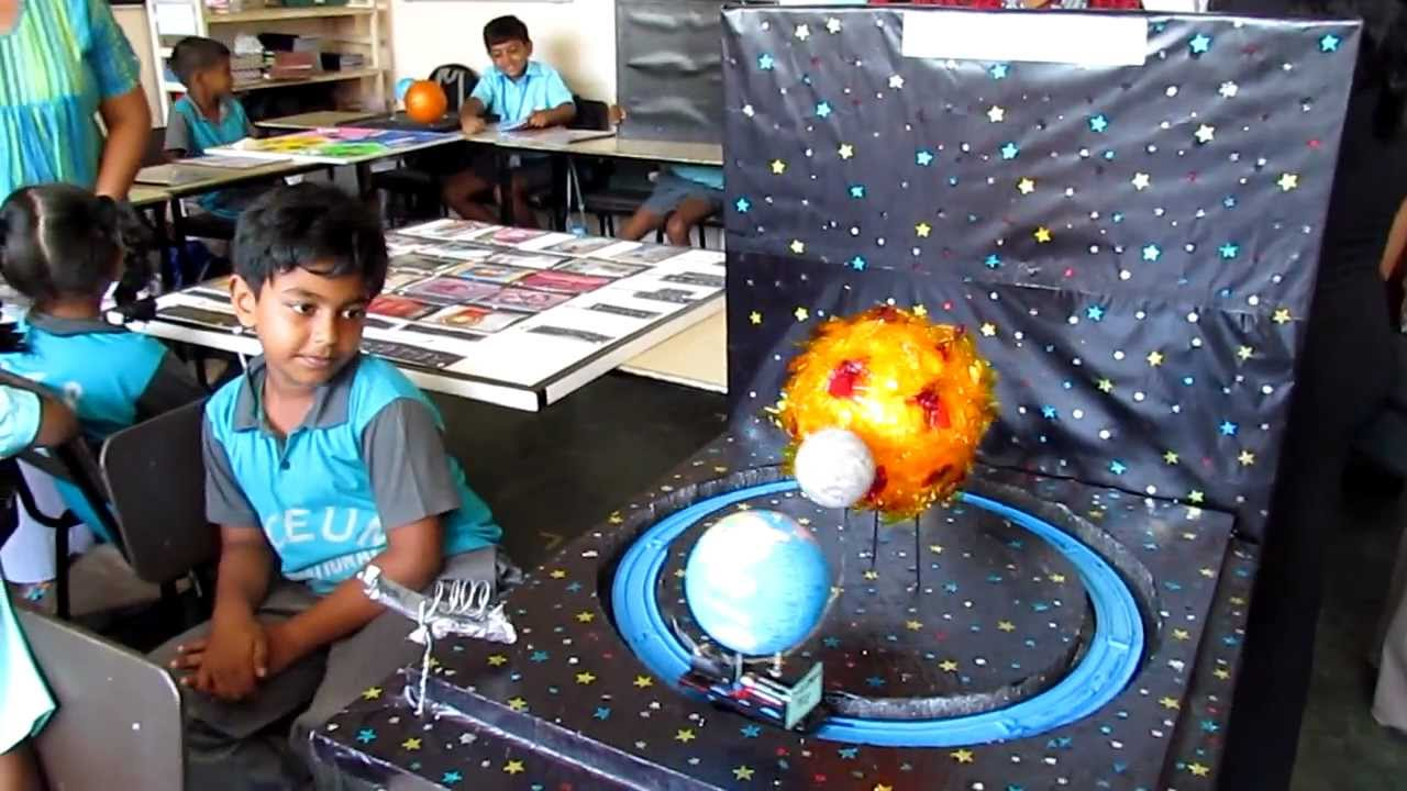 Grade 3 Science Project Earth Moon Amp Sun Youtube