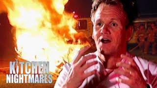 Gordon Sets Fire to the Restaurant   Kitchen Nightmares