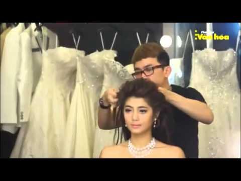 Làm tóc cô dâu đơn giản dễ thương - Hà Đỗ Makeup