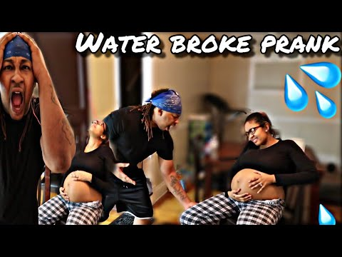 MY WATER BROKE PRANK ON HUSBAND!!! (CUTE REACTION BUT FUNNY)