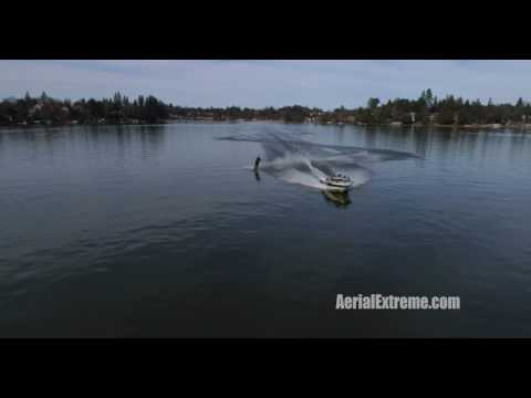 Waterskiing at LOP 01 29 17 - Aerial Extreme