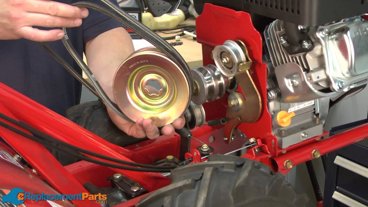 How To Replace The Reverse Drive Belt On A Troy Bilt Super