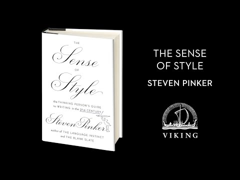 The Sense of Style by Steven Pinker (book trailer)