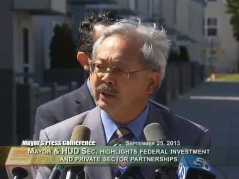 Mayor Lee at U.S. HUD Secretary Shaun Donovan's Visit