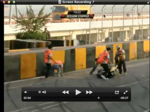 Ben Wylie Huge Crash Aftermath @ 2013 Moto Macau Grand Prix