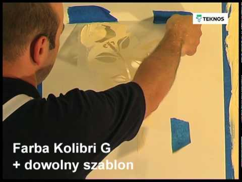 Tworzenie efektów dekoracyjnych przy użyciu farb Teknos część 1