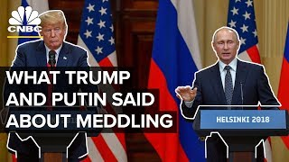 Everything Trump And Putin Said On Russian Meddling | CNBC