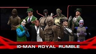 WWE 2K14 Batman Villains Royal Rumble