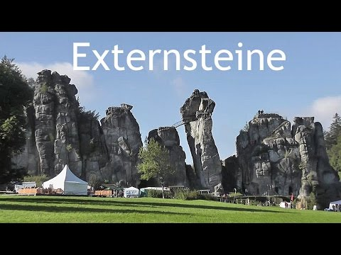 'Externsteine' rock pillars - Teutoburg Forest (DE) [HD]