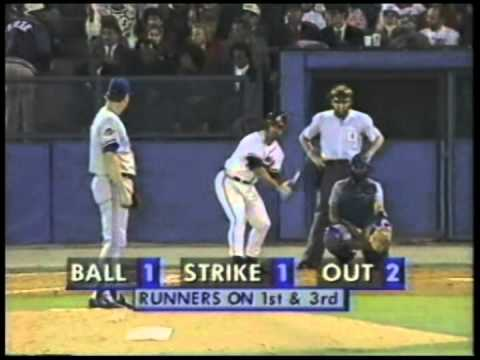 Damon Berryhill's 6th inning 3 run Home Run over Jack Morris in the 1992 World Series.