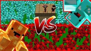 THỬ THÁCH CÙNG ZEROS NOOB ĐỘI QUÂN ZOMBIE KIM CƯƠNG VS ĐỘI QUÂN ZOMBIE LAVA!! (Channy Minecraft)