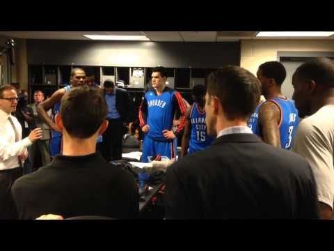 All Access: Oklahoma City Thunder Locker Room Celebration