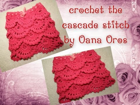 Crochet Stitches Youtube Channel : crochet the cascade stitch - YouTube