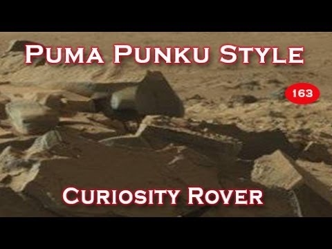 Amazing Pumapunku Style Blocks Smashed Up On Mars - Curiosity Rover 2014