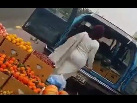 كويتية تتسبب في أزمة مرورية