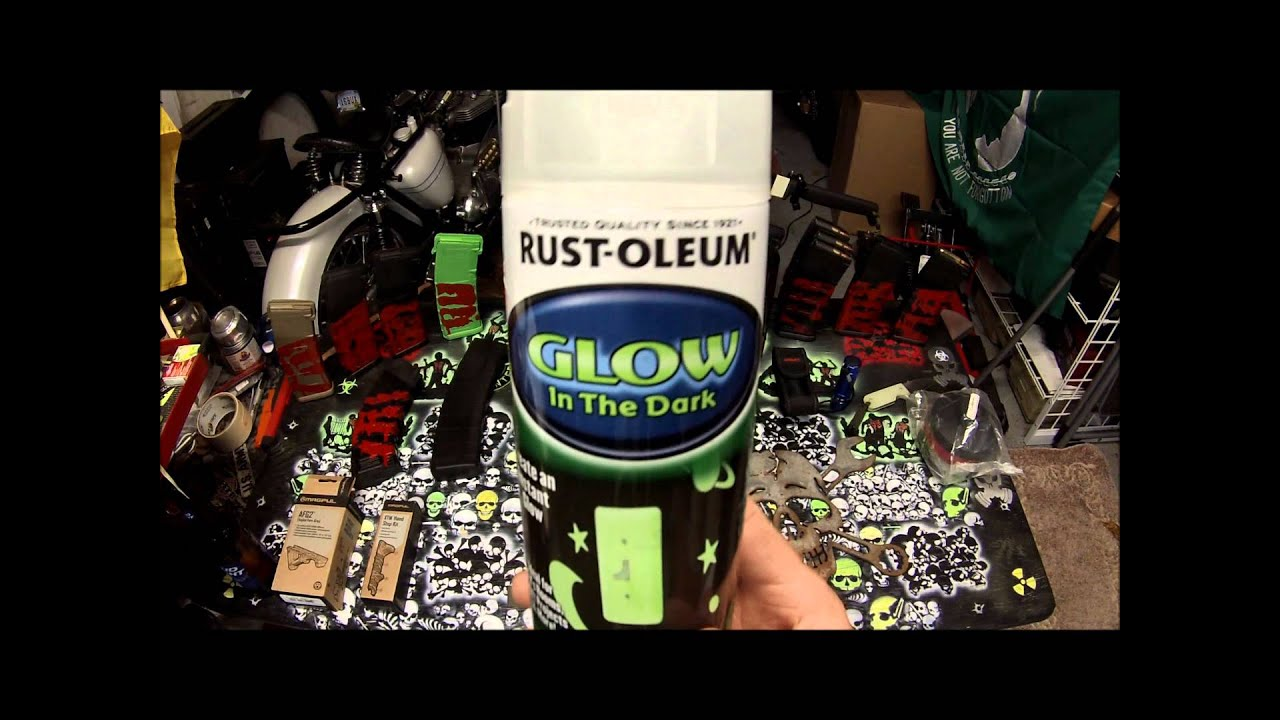 rust oleum glow in the dark paint review youtube. Black Bedroom Furniture Sets. Home Design Ideas