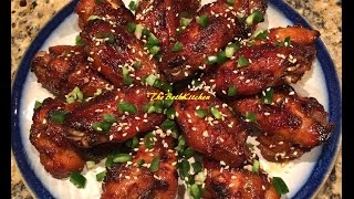 EASY Oven Baked Sweet and Spicy Chicken Wings (Canh ga nuong mat ong)