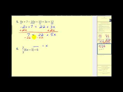 Solving Multiple Step Equations