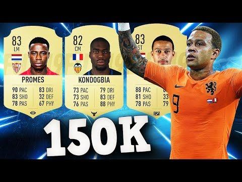 PLANTILLA HBRIDA 150K PARA FUT CHAMPIONS!!/FIFA 19