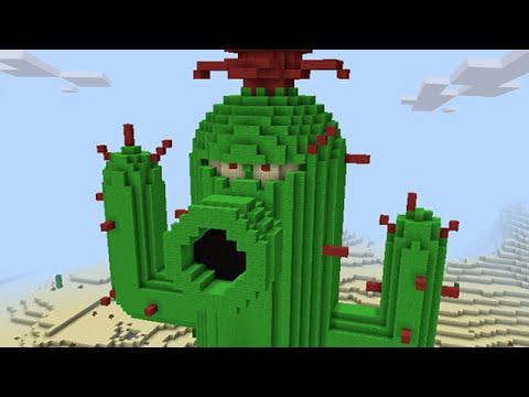 Minecraft vs Zombies | GIGA Cactus!! (Working!) | PvZ  Land