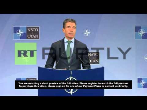 Belgium: NATO suspends military and civilian co-operation with Russia- Rasmussen