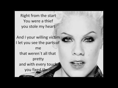 Pink ft Fun - Just Give Me A Reason (Lyrics)