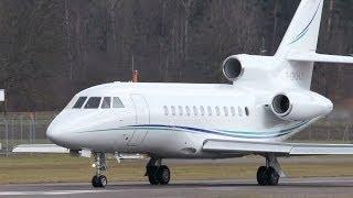 Dassault Falcon 900 F-GKHJ Take Off Airport Bern-Belp