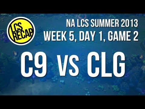 LCS Recap: C9 vs CLG - Week 5, Game 2 (NA Summer 2013)