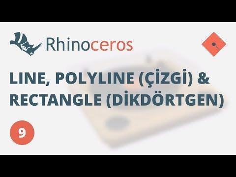 Yakın Kampüs – Rhinoceros 4 Ders 9 – Line, Polyline (Çizgi) ve Rectangle (Dikdörtgen) Komutları