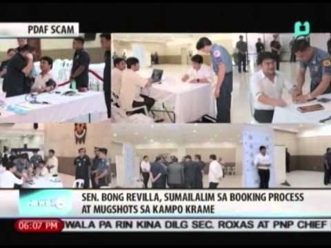 Sen. Bong Revilla, sumailalim sa booking process at mugshots sa Kampo Krame || June 20, 2014