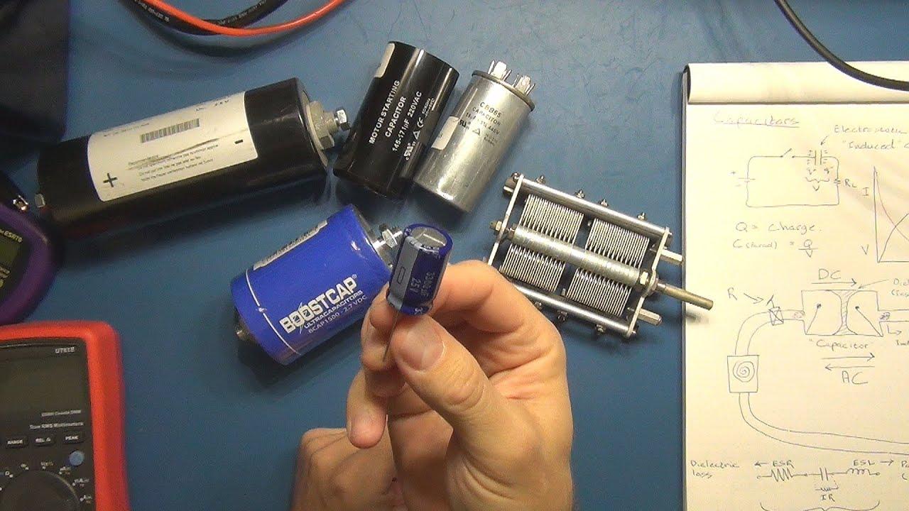 Electronics Tutorial #9 - Capacitors - Part 1 - YouTube