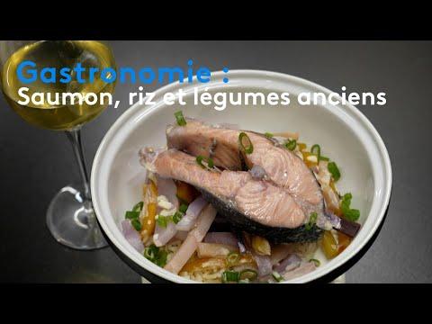 Gastronomie : saumon, riz et légumes anciens
