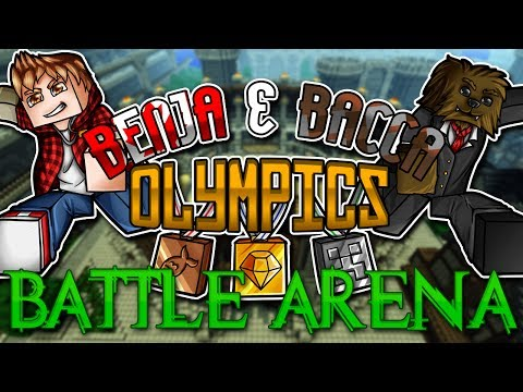 Minecraft: Benja & Bacca Olympics Game 6 - Battle-Dome 1vs1
