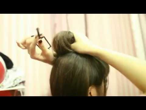 Cách búi tóc phồng cực xinh