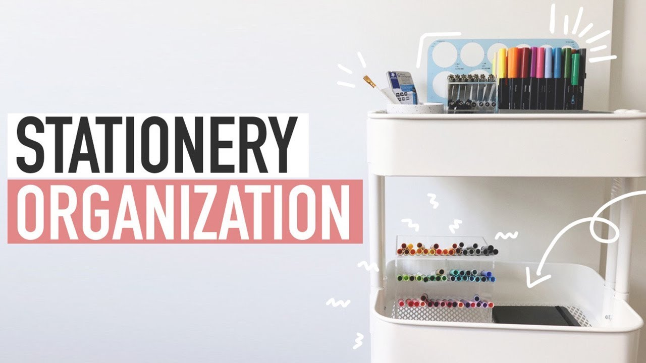 ORGANIZE STATIONERY WITH ME ✨bullet journal supplies cart 🖋📝
