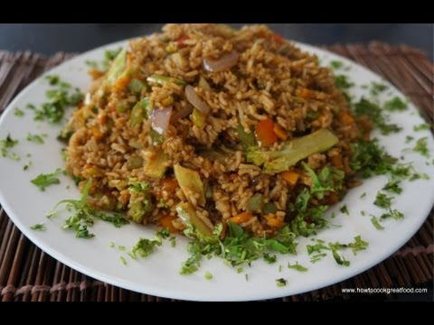 Vegetable Fried Rice Recipe how to cook great Asian food stir fry wok