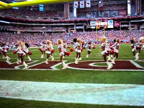 """2010 Arizona Cardinals Cheerleaders team routine """"Starstruck""""!"""