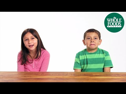 Funny cute kids talking about food