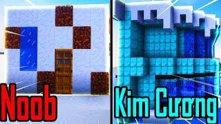 Thăm Nhà Noob Xây Nhà Tuyết Hiện Đại Bằng Kim Cương Trong Minecraft
