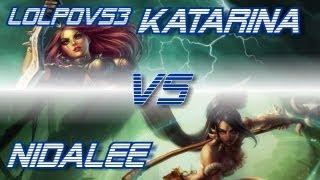 LoLPoV Katarina Vs Nidalee [Mid] (League Of Legends Live