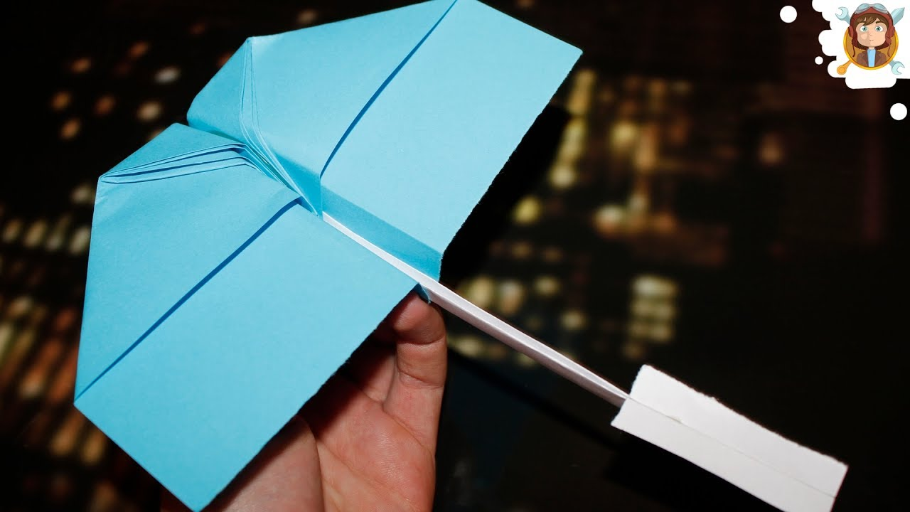 how to make a paper airplane that flies in circles