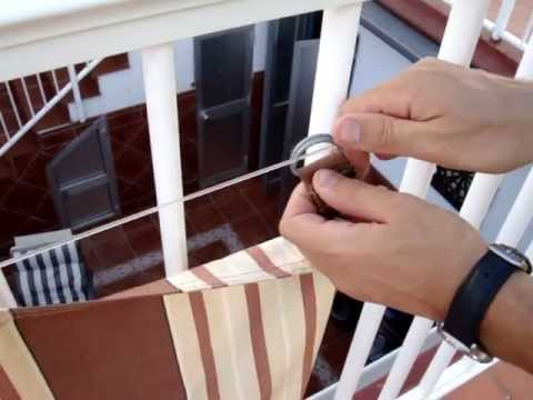 Montaje del toldo con piquete abierto youtube - Como hacer un toldo ...