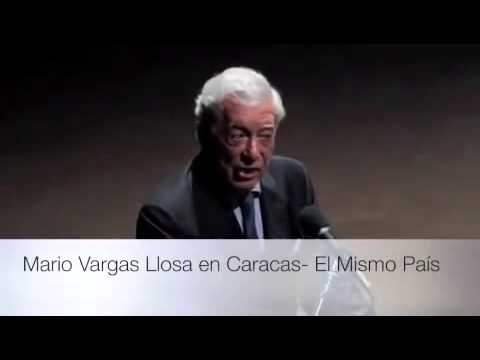 Literature Nobel Prize Mario Vargas Llosa talks in Caracas about Venezuelan students